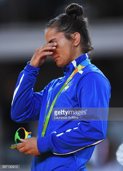 on Day 2 of the Rio 2016 Olympic Games at Carioca Arena 2 on August 7, 2016 in Rio de Janeiro, Brazil.