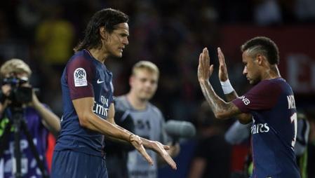 Cavani e Neymar no PSG